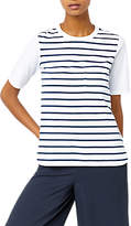 Warehouse Cotton Back Striped Pocket T-Shirt
