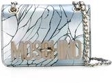 Moschino cracked effect shoulder bag - women - Polyamide - One Size