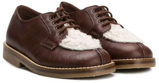 Pépé Contrast Panel Lace-Up Shoes