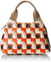 Orla Kiely Poppy Cat Print Small Classic Zip Shoulder Bag