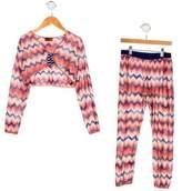 Missoni Girls' Chevron Pant Set