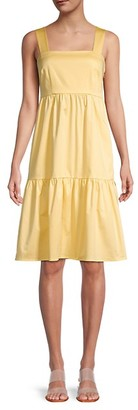 Gal Meets Glam Back Bow Tiered-Hem Sundress