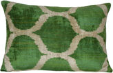 Orientalist Home Bedir 16x24 Silk Pillow, Green