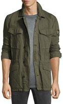 Belstaff Weymouth Linen-Cotton Utility Jacket, Medium Green