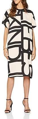 Liebeskind Berlin Women's S6180053 jersey Knee-Length A-Line Short Sleeve Dress,(Manufacturer Size: 40)