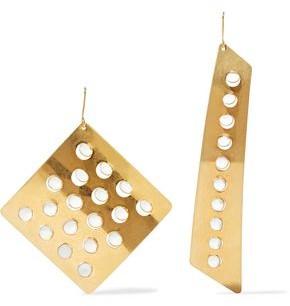 Stella McCartney Gold-tone Enamel Earrings