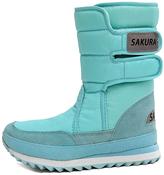 Sakura Blue Double-Strap Snow Boot