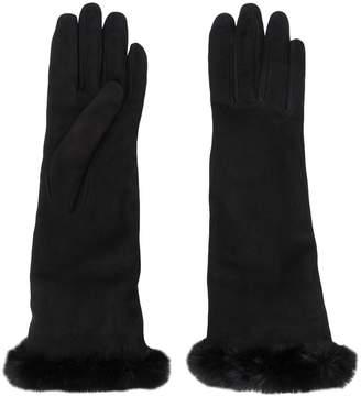 Gala Gloves faux fur cuffed gloves