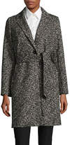 Weekend Max Mara Gorizia Woven Virgin Wool-Cotton Coat