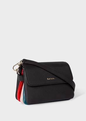 Paul Smith Women's Black Leather 'Concertina' Mini Shoulder Belt Bag