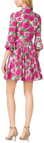 Michael Kors Peony-Print Cotton-Poplin Shirtdress