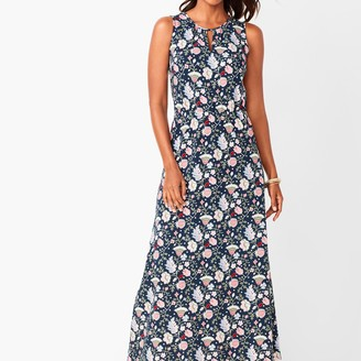 Talbots Floral Keyhole Maxi Dress