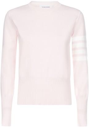 Thom Browne 4-Bar Crewneck Sweatshirt