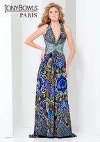 Mon Cheri Paris Prom by Mon Cheri - 115750 Long Dress In Royal Multicolor