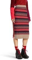 Burberry Women's Knit Wool Blend Pencil Skirt