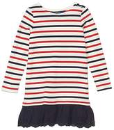 Polo Ralph Lauren Striped Cotton Jersey Dress (Little Kids) (Clubhouse Cream) Girl's Dress