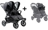 Valco Baby 2016 Valco Tri Mode Duo X Double Stroller - Night with Tri Mode Duo X Joey Toddler Toddler Seat by
