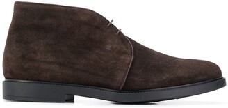 Fratelli Rossetti piped leather trim boots
