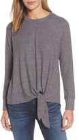 Gibson Women's Tie Front Cozy Fleece Pullover
