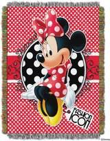Disney Tapestry Throw Minnie Mouse Fashion Icon Woven Blanket 174993