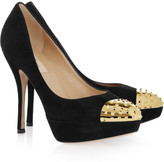 Valentino Suede and studded metal pumps