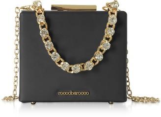 Roccobarocco Churro Black Matte Eco-Leather Shoulder Bag