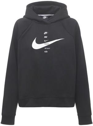 Nike Swoosh Print Sweatshirt Hoodie