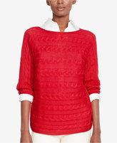 Lauren Ralph Lauren Cable-Knit Boat-Neck Sweater, A Macy's Exclusive