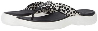 Clarks Lola Point (Black/White Interest Textile) Women's Shoes