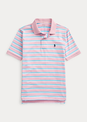 Ralph Lauren Striped Performance Lisle Polo Shirt