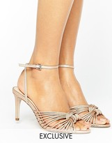 Office Millie Knot Rose Gold Mid Heeled Sandals