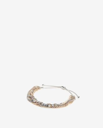 Express Multi-Row Chevron Chain Bracelet