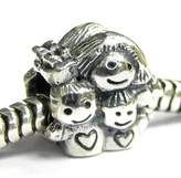 Queenberry .925 Sterling Silver Mother Daughter Son / Boy Girl Mom Kids Bead For Pandora European Charm Bracelets