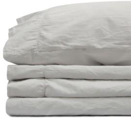 Jennifer Adams Home Jennifer Adams Relaxed Cotton Sateen King Sheet Set Bedding