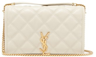 Saint Laurent Becky Quilted-leather Cross-body Wallet Bag - Womens - White