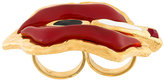 DSQUARED2 lips double finger ring