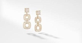 David Yurman Chatelaine Full Pave Triple Drop Earrings In 18K Yellow