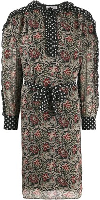 Antik Batik Balyna floral-print chiffon dress