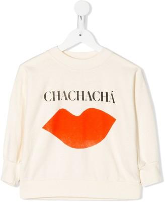 Bobo Choses Chachacha lips print sweatshirt