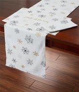 Kate Spade Holiday Snowflakes Metallic Table Linens