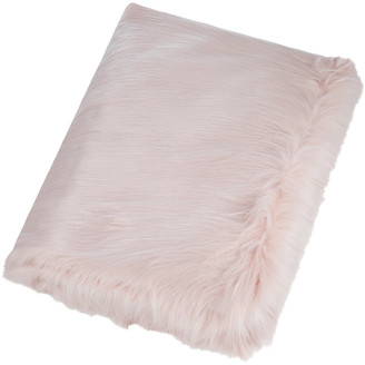 Lux faux fur himalaya pink frost pillow