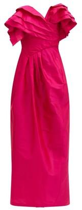 Preen by Thornton Bregazzi Zita Ruffled Silk-taffeta Dress - Pink