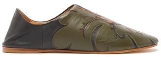 Vita Kin - Hidden Meadow Leather Slipper Shoes - Womens - Khaki Multi