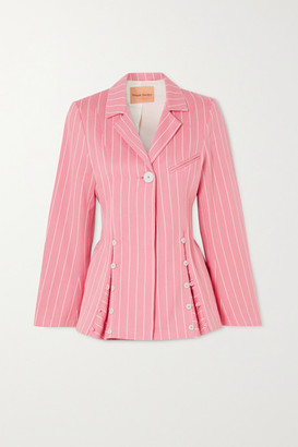 Maggie Marilyn + Net Sustain Follow Your Heart Pinstriped Organic-cotton Twill Blazer - Pink