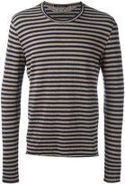 Roberto Collina long sleeve striped T-shirt - men - Linen/Flax/Elastodiene - 54