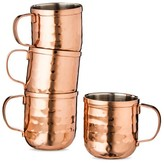 Threshold Moscow Mule Mug Shot Glasses 2oz Stainless Steel/Copper Finish Set of 4