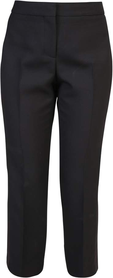 Alexander McQueen Silk And Wool Blend Trousers