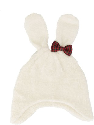 Familiar Bow-Embellished Bunny Beanie