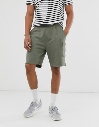 Burton Menswear jersey shorts in khaki