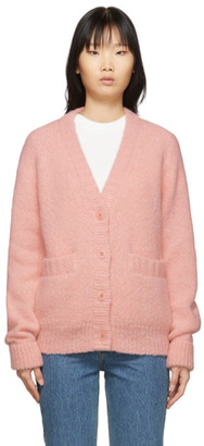 Tibi Pink Alpaca Cozette Cardigan